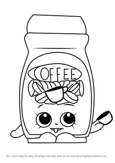 draw shopkins toffy coffee