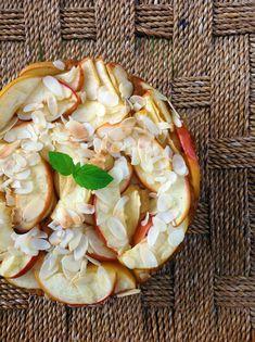 Polenta - Ingwer - Apfel - Kuchen mit Kokosblütenzucker