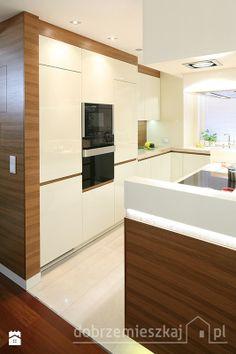 Kuchnia w 72m2 mieszkaniu - Kuchnia - Styl Glamour - MM DeSign Małgorzata Mazur