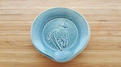 Horse Spoon Holder by LASpottery on Etsy
