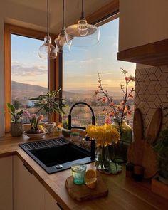 Dream Home Design, My Dream Home, Home Interior Design, Kitchen Interior, Apartamento New York, Dream Apartment, Aesthetic Rooms, Küchen Design, Dream Rooms