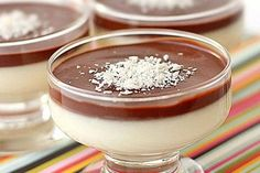 Dica de sobremesa: Mousse de Coco com Chocolate!