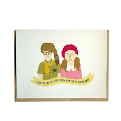 Moonrise Kingdom Sam et Suzy carte par ArthursPlaidPants sur Etsy