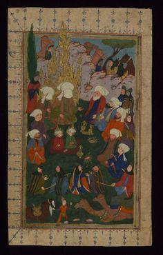 karagozcelebi:  17. Yüzyıl Osmanlısından bir minyatür. Hz. Muhammed ve Hz. Ali yüzleri perdelenmiş olarak, Hz. Hasan ve Hz. Hüseyin ise açık bir şekilde tasvir edilmiş.