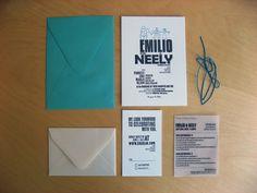 modern #letterpress wedding invite