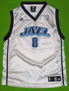 b271e1f0bb79 NBA Utah JAZZ  8 Deron Williams Adidas Basketball Jersey Youth size Large  14 16