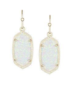 Dani Earrings in White Kyocera Opal - Kendra Scott Jewelry