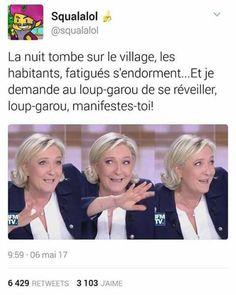 Si Lepen est un loup garou, Macron est un agneau/un mouton (au choix)...