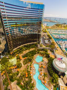 Stunning view from the Marriott Marquis in San Diego. This hotel is incredible and I want to stay here next time I go to San Diego.