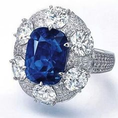 repost @connieluk_christies An exceptional 10.50ct #Kashmir #sapphire and diamond ring by #Gübelin