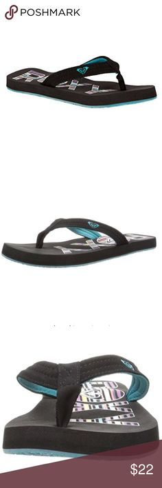 Roxy Women's Low Tide Flip Flop,Black/Blue, Product description Functional and sea-friendly, the Roxy Women's Low Tide Flip Flop may be your best bet for amphibious footwear. Synthetic nubuck strap, web lining, and foam and rubber construction can handle wet sand, seaside showers, and the long walk home. A soft gel print adds surf-loving style and a splash of color. From the Manufacturer Roxy is a brand of Quiksilver, Inc., the world's leading outdoor sports lifestyle . Roxy Shoes Sandals