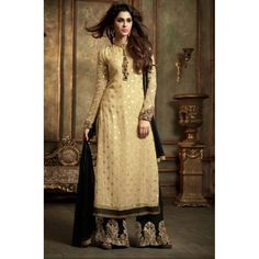 MASKEEN ATTRACTIVE GEORGETTE STRAIGHT CUT STYLE SUIT LAVISH - 2406