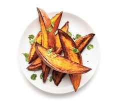 Crispy Roasted Sweet Potatoes With Lime and Cilantro | Try one of these easy takes on the versatile root vegetable.