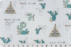 Young and Brave Embrace Tepees from Shannon Fabrics by BungalowQuilting on Etsy