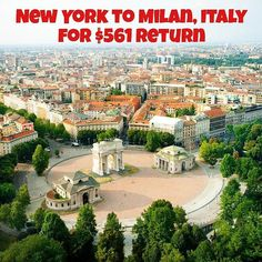 Non-stop from New York to Milan Italy for only $561 return. Link in bio #SecretFlying #travel by secretflying