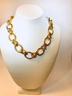 NATURAL LARGE SCALLOP SHELL GILTED GOLD METALLIC TONE NECKLACE CHAIN GIFT