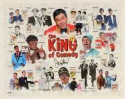 """Jerry Lewis Autographed 16""""x 20"""" The King of Comedy Stretched Canvas - BAS COA"""