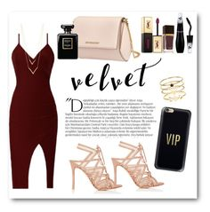 """""""velvet"""" by daniiamashita ❤ liked on Polyvore featuring Balmain, Gianvito Rossi, Accessorize, Jennifer Zeuner, Casetify, Givenchy, Yves Saint Laurent, Tom Ford, Lancôme and Chanel"""