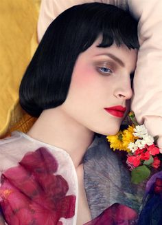 Vogue Italia – January 2008  editorial: a bedtime story  model: Guinevere van Seenus  photographer: Steven Meisel