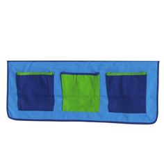 KIDS World Print Pocket Blue.   Any storage is always useful.  This pocket addition is a perfect solution to pack away your child's teddies and any other small items in easy reach for the mid/ high sleeper beds.  Size W 860 x H 290 mm  1500604 Special Price: £19.00