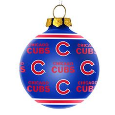 Get this Chicago Cubs All Over Print Glass Ornament at WrigleyvilleSports.com