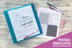My 5th grader requested some coloring page binder covers that she could print off and decorate for her school binders. We sat down together at my computer and designed two options. She was 100% in charge of what went on them and I think they turned out pretty fun. Take a peek: Cute, right? She... Read More » The post Printable Coloring Page Binder Covers appeared first on Inspiration Made Simple.