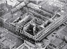 18 November 1947 Disastrous fire in Ballantynes Department store. 41 lives lost in New Zealand's worst fire tragedy. The fire led to drastic revisions of fire safety codes throughout the country. Nz History, Local History, South Pacific, Pacific Ocean, Christchurch New Zealand, City Library, State Of Arizona, Fire Safety, Old Skool