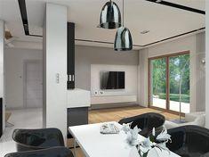 Projekt domu Reksio N+ 103,37 m2 - koszt budowy 180 tys. zł - EXTRADOM House Outside Design, House Design, Design Case, Home Fashion, Modern Farmhouse, Oversized Mirror, Floor Plans, Architecture, House Styles