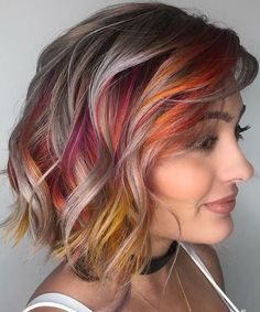 Trendy Multicolor Short Layered Hairstyles for Women