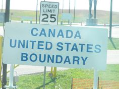 Coming Into America johnhanscom Alaska Highway, Speed Limit, United States, Canada, The Unit, America, River, Usa, Rivers