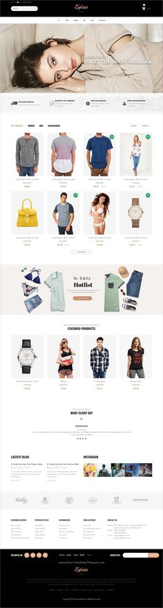 Euforia is clean and modern design 5in1 responsive prestashop theme for stunning fashion store eCommerce website to live preview & download click on Visit  #ecommercewebsite #onlineshopping