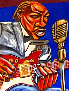 JIMMY REED PRINT POSTER BLUES KAY #SILVERTONE #GUITAR ART #music