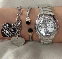Watch and bracelets