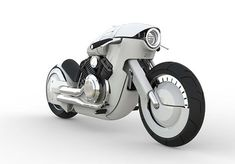 Retro-Futuristic Harley Davidson Motorcycle Concept