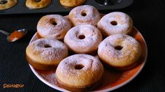 Sütőben sült fánk teljes kiőrlésű lisztből. Kalóriacsökkentett diétás fánk recept sütőben sütve, fogyókúrázóknak, IR diétázóknak, cukorbetegeknek! >>> Diabetic Recipes, Diet Recipes, Healthy Recipes, Healthy Foods, Recipies, Healthy Desserts, Cake Cookies, Bagel, Doughnut