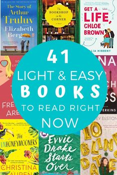 Light & Easy Books To Read When You Really Just Need An Escape Looking for light and easy read right now? This reading list is full of lighthearted reads, feel good reads and books that are just easy to find solace in. Feel Good Books, Best Books To Read, I Love Books, My Books, Best Books List, Good Audio Books, Good Book Club Books, Good Books To Read, Book List Must Read