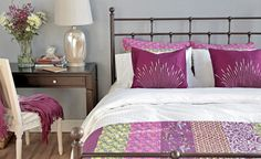 Get inspired by Eclectic Bedroom Design photo by Wayfair. Wayfair lets you find the designer products in the photo and get ideas from thousands of other Eclectic Bedroom Design photos. Purple Bedroom Decor, Purple Bedding, Girls Bedroom, Bright Bedding, Purple Bedrooms, Dream Bedroom, Master Bedroom, Bedroom Photos, Bedroom Ideas
