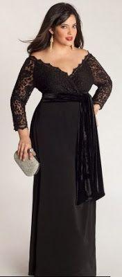ec5a0ee33 Linda GG: Vestido de festa plus size para o inverno! Vestidos De Noiva Plus