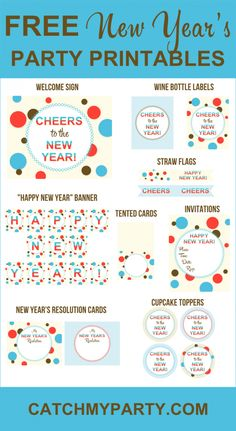 check out this entire collection of free new years eve party printables were giving