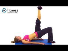 Fitness Blender Butt & Thigh Workout - 20 Minute Bodyweight Workout