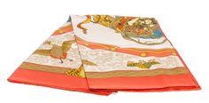 Hermes Orange Nikko Silk Scarf