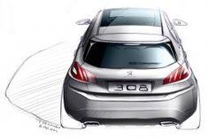 Peugeot 308 Design Sketch by designer Thomas Rohm