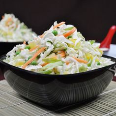 DOLE Salads - Confetti Coleslaw with Creamy Pineapple Dressing - the dressing is amazing on spinach salads as well. Absolutely addicting.