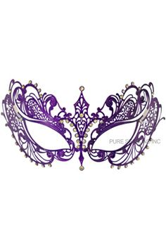 Empress Divine Venetian Mask (Purple) - Pure Costumes $19.95