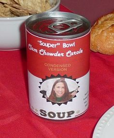 """""""Souper"""" Bowl party place card!! Easy to make!"""