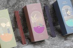 OIMU - 오이뮤 선향 Incense Packaging, Rice Packaging, Biscuits Packaging, Medicine Packaging, Food Packaging Design, Coffee Packaging, Packaging Design Inspiration, Brand Packaging, Branding Design