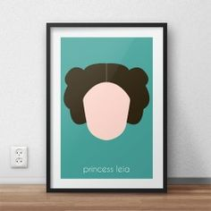 Kolorowy plakat z wizerunkiem Księżniczki Lei dla dzieci i fanów filmu Gwiezdne Wojny Star Wars