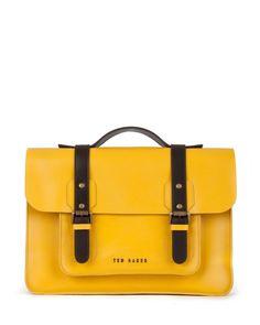 31fd4243e48 SKOLDAY - Leather satchel Leather Satchel