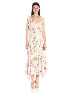 Rebecca Taylor Women's Sleeveless Meadow Ruffle Dress: Amazon Fashion