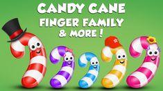 "Watch and enjoy ""candy cane finger family"" nursery rhyme for children. Lyrics: Daddy finger, daddy finger, where are you? Sister Finger, Mommy Finger, Baby Finger, Finger Family Rhymes, Family Songs, Kids Songs, Kids Nursery Rhymes, Stephen Covey, Chocolate Lollipops"